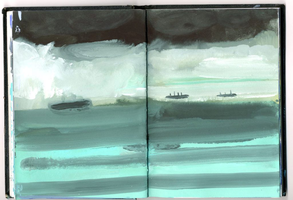 ships-on-a-striped-sea